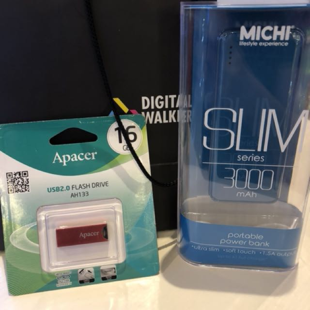 Slim Powerbank Michi Electronics Mobile Tablet Accessories On