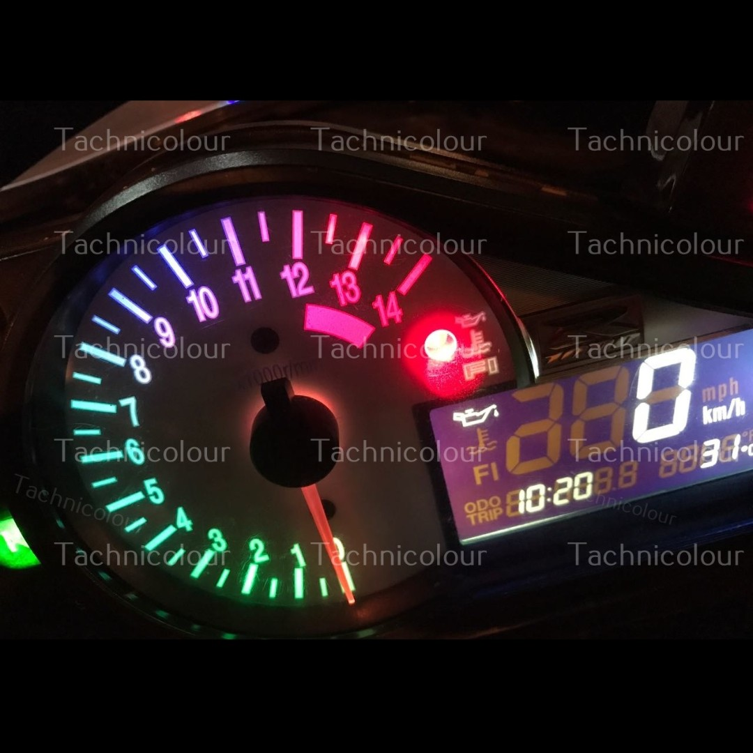 SPEEDO COLOUR CONVERSION Motorcycle Motorbike | Speedometer