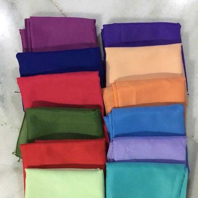 Square scarves/tudung bawal