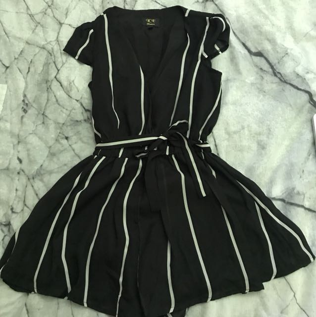 Striped play suit