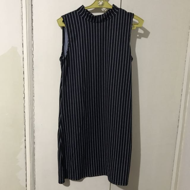 Stripes Black Jersey Dress