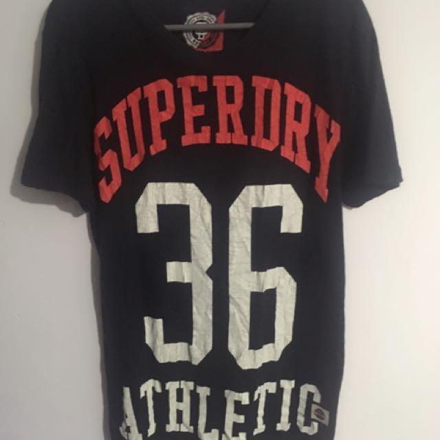 Superdry 黑色T恤(裂痕設計)透氣好看(roots.Polo.CK.AF)可參考