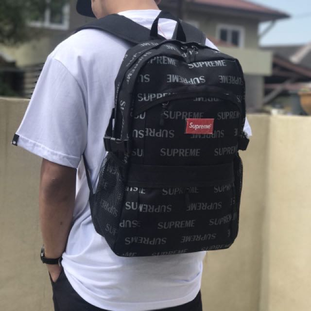 new concept 2372f 47e14 SUPREME 3M REFLECTIVE BACKPACK, Men s Fashion, Bags   Wallets, Wallets on  Carousell
