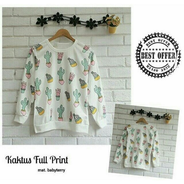 SWEATER FULL PRINT / SWEATER / SWETER / JACKET / JAKET / ATASAN / BAJU