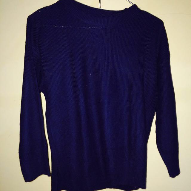 Sweater Rajut Navy/Biru Dongker