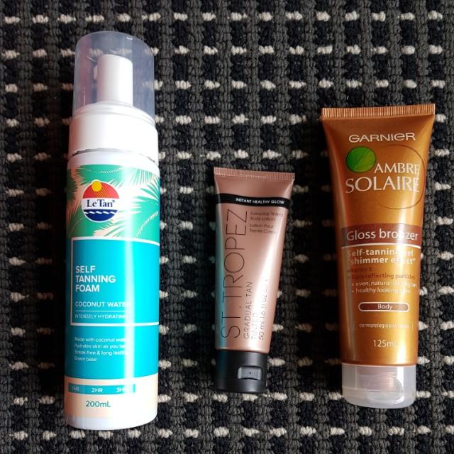 Tanning/Bronzing items