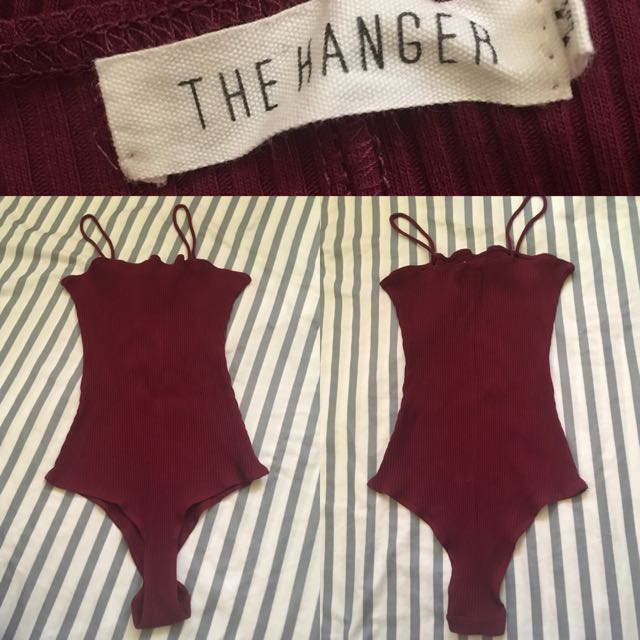 The Hanger one piece top(Ribbed)