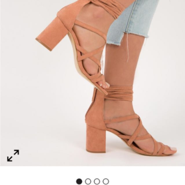 Therapy terracotta heels suede
