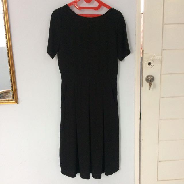 This Is April Classic Black Dress