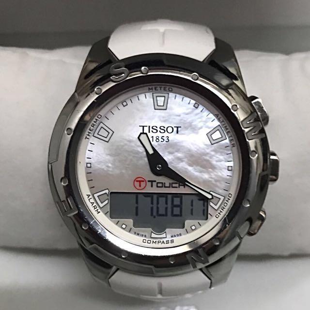 Tissot T Touch II Titanium Lady White Watch T0472204711100 e35046398