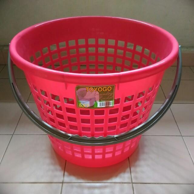 TOYOGO Laundry Basket (Red Colour, No.599)
