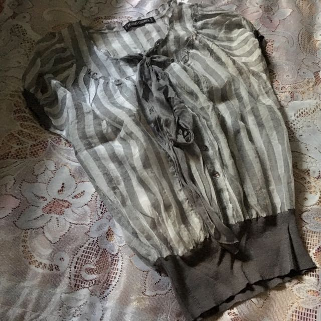 Unbranded Gray Office Blouse