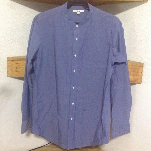 705512bb5b1b25 Uniqlo Long Sleeves Polo Blouse, Women's Fashion, Clothes, Tops on ...