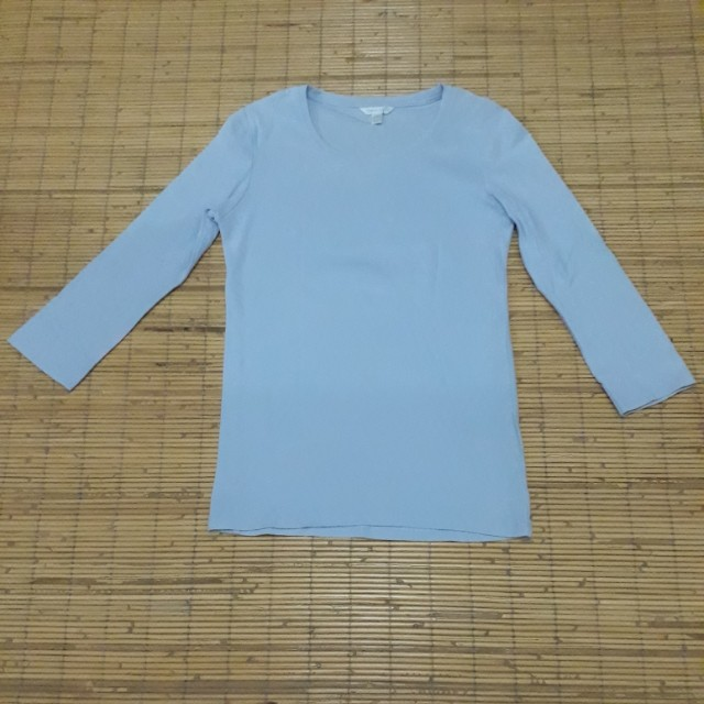 Uniqlo Premium cotton 3/4 sleeve crew neck