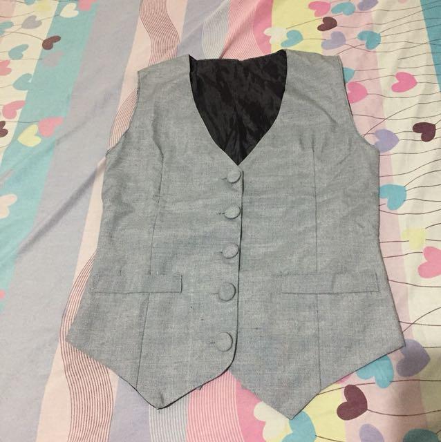 Unisex Gray Vest