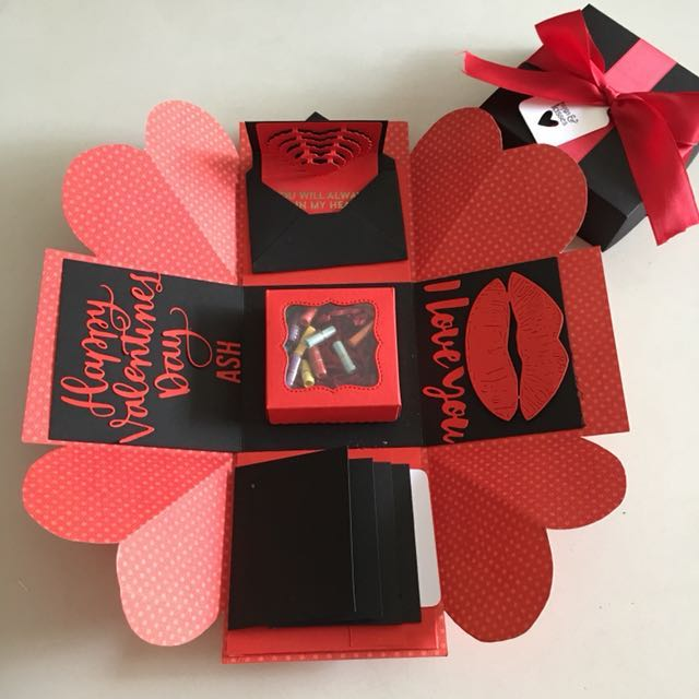 Valentine Explosion Box With Gift Box Love Notes 4 Waterfall In