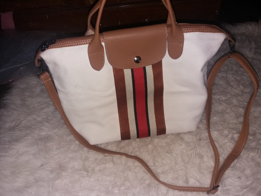 White bag longchamp / tas longchamp/ sling bag