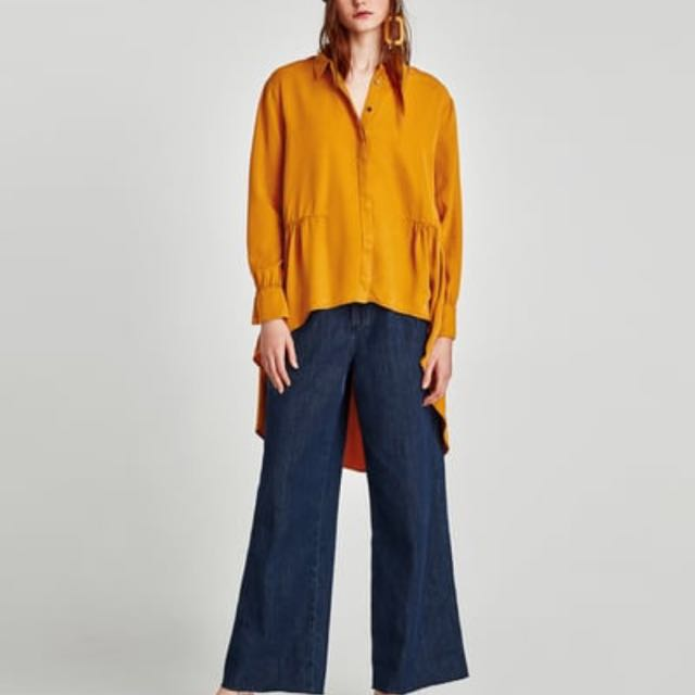 Zara Asymmetrical Shirt
