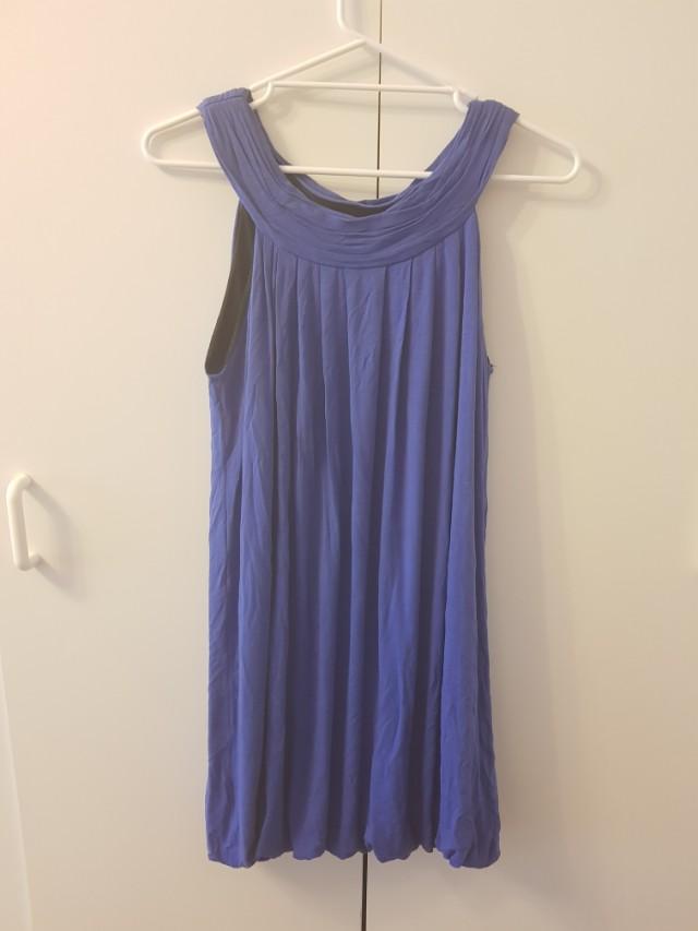 Zara blue swing dress
