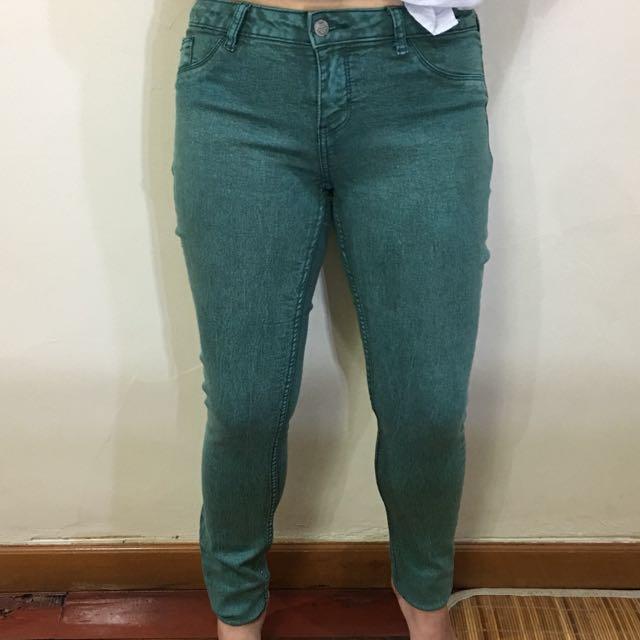 Zara Green Jeans