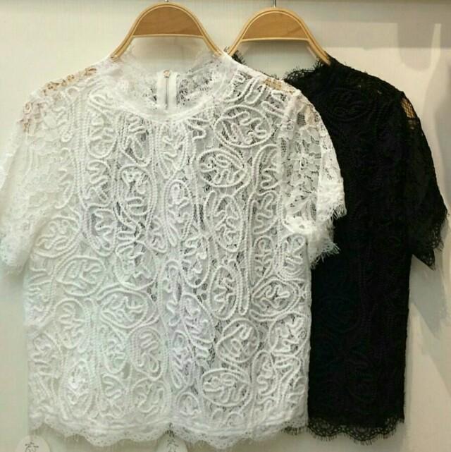 Zara inspired White lace blouse