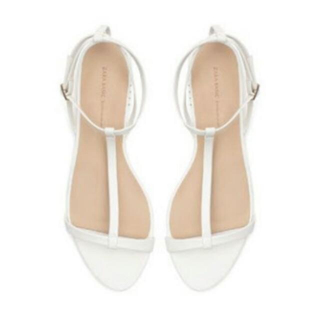 Zara strappy flat sandals