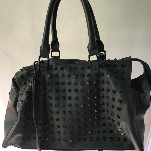 c64f86f1 Zara Studded Bowling Bag, Women's Fashion, Bags & Wallets on Carousell