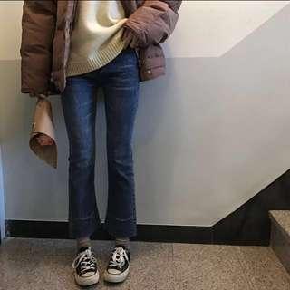 百搭顯瘦微喇叭牛仔褲 #有超取最好買