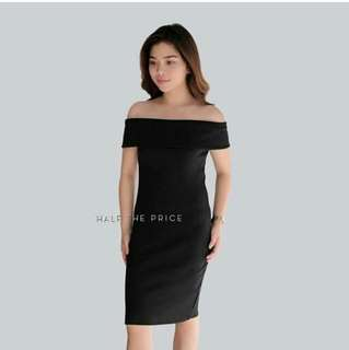 HTP Offshoulder Ribbed Dress