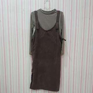 Set brown dress
