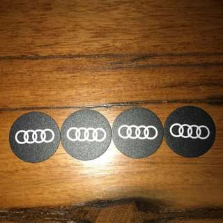 Brand new Audi logo Mount Metal Plate with Adhesive for Magnetic Cradle-less Mount holder.