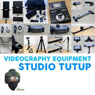 Videography Equipment (Business dah tutup)