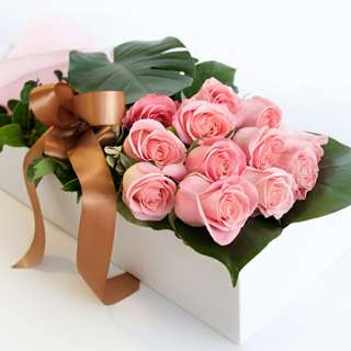 Light pink roses Gifts box - 0061