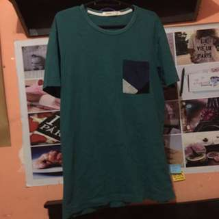 Green Pocket Tee