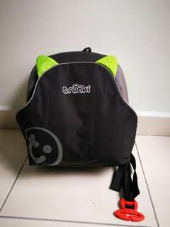 Green Trunki backpack / seat booster