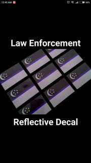 Blue Line Reflective Decal