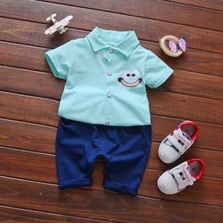 Children Short Sleeves T-Shirt and Pants