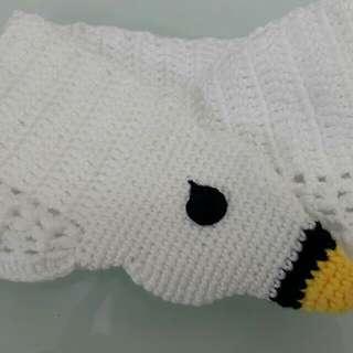 人手編織 天鵝頸巾