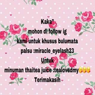 "Kaka"" minta bantuannya untuk follow instagram"