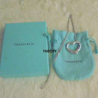 AUTHENTIC TIFFANY & CO. LARGE OPEN HEART SILVER NECKLACE