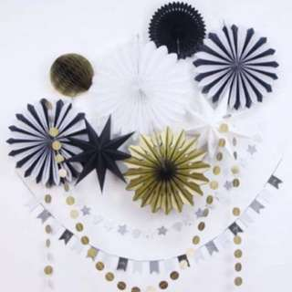 party gold and black decoration
