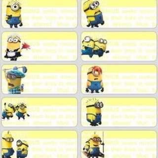 Name Stickers - Minions