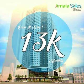 AMAIA SKIES SHAW Pre selling STUDIO,  1BR FOR AS LOW AS 13K A MONTH
