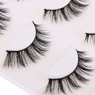3 Pairs Sexy Black Makeup 3D Stereo False Eyelashes Thick Natural Bushy Cross Eyelashes