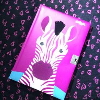 Smiggle Zebra Lockable Notebook