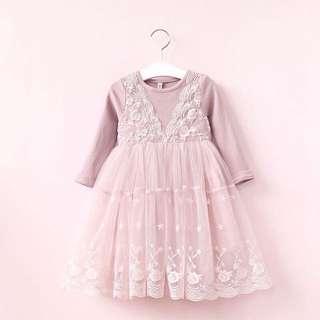 Lace Pink Dress #922
