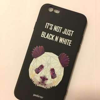 Matte tpu geometric panda case for iPhone 6/6s