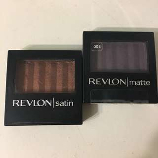 Revlon matte/satin eyeshadows