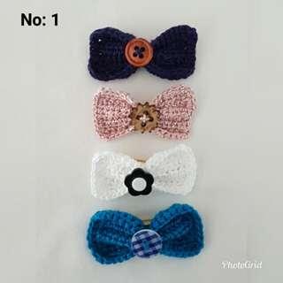 Handmade Knitted Ribbon Brooch