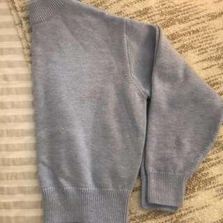 Baby blue H&M crop sweater
